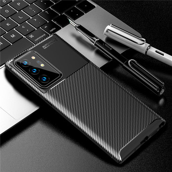 Carbon Fiber Case For Samsung Galaxy Note 20 Ultra Case S20 Plus Cover Soft Back Bumper For Samsung Galaxy Note 20 S20 Funda protective frosted plastic back case for samsung galaxy note 3 white