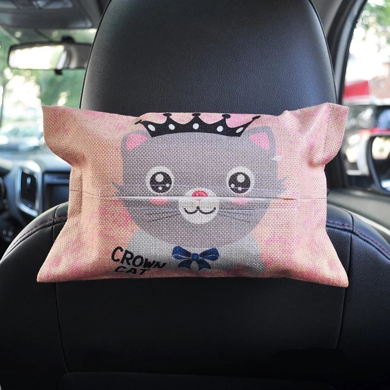 Cartoon Car Tissue Box Seat Back Hanging Storage Table Home Container Towel Napkin Papers Bag Holder Box Case Pouch