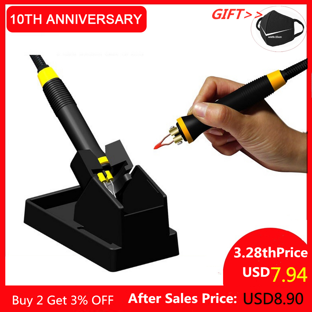 220V Soldering Iron Tool Pyrography Machine Digital Display Wood Burning Soldering Irons Crafts Tools Machine Kit Set 60W