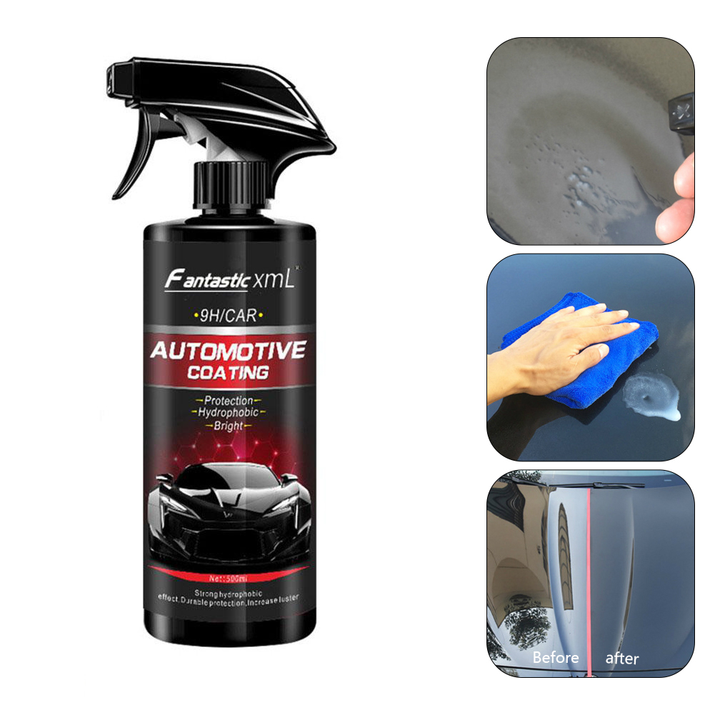 500ML Ceramic Spray Coating Car Polish Spray Sealant Top Coat Quick Nano-Coating Car Spray Wax Car Cleaning PaintCare With Towel