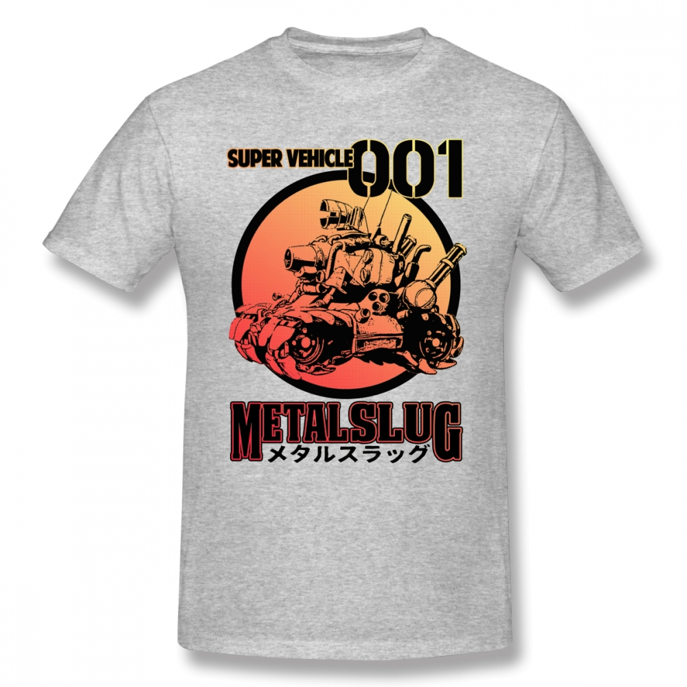 Metal Slug T Shirt Super Vehicle T-Shirt Fashion Graphic Tee Shirt 100% Cotton Man 3xl Short-Sleeve <font><b>Funny</b></font> <font><b>Tshirt</b></font> image