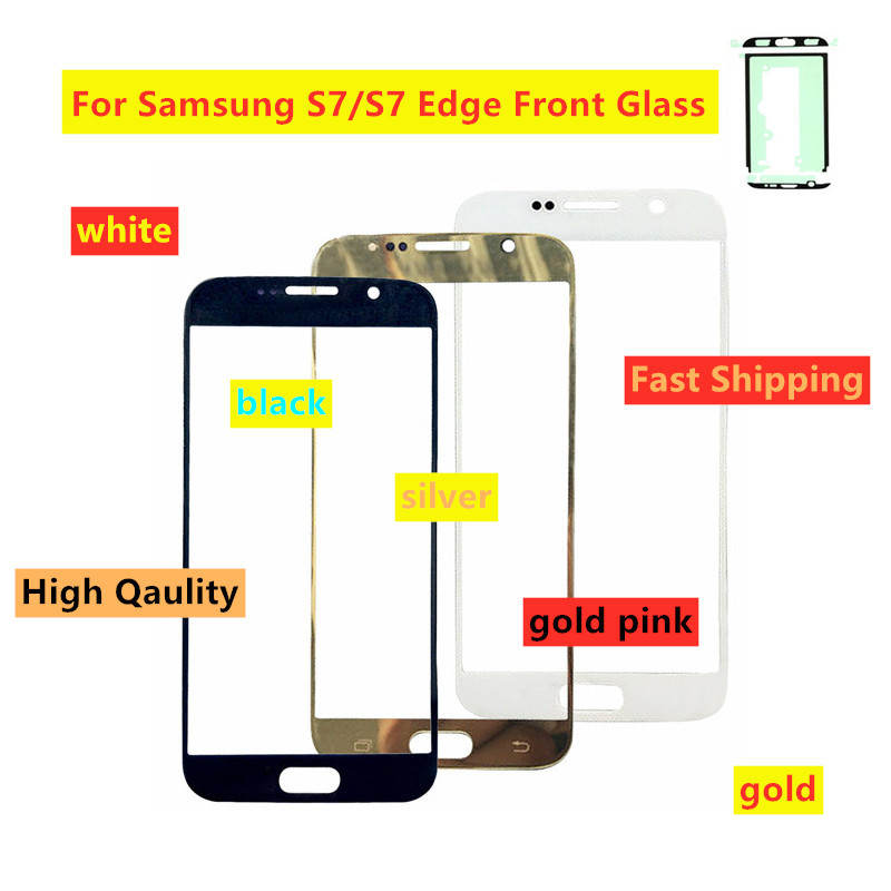 Touch Screen Front Glass Outer Panel For Samsung S7 G930 G930F S7 Edge G935 G935F LCD Touch Screen Glass For Samsung S7 Edge