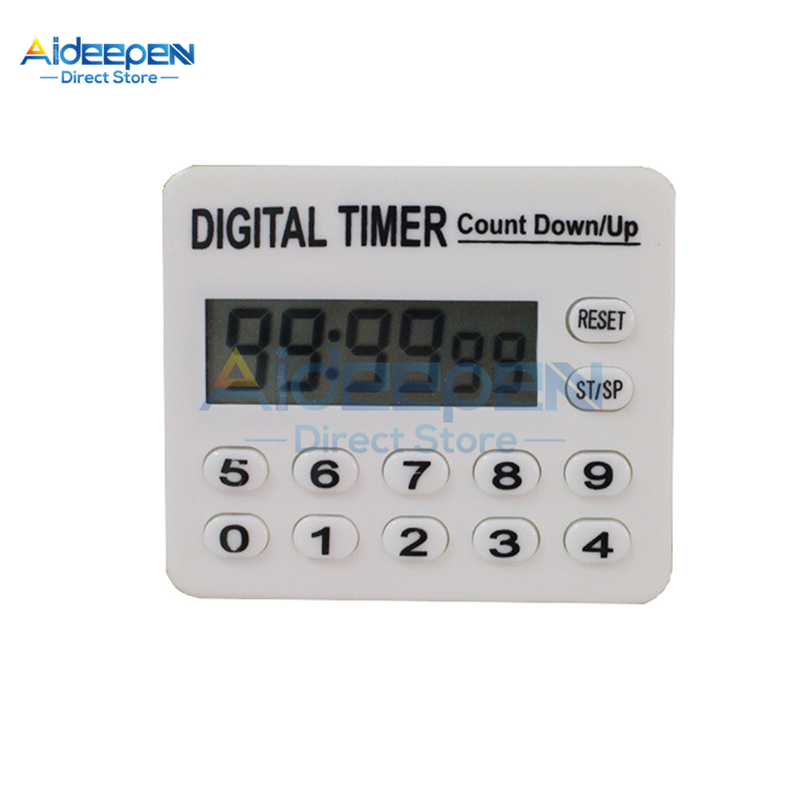 12 Key LCD Digital Kitchen Timer Square Kitchen Countdown Alarm Clock Sleep Stopwatch Clock Timer For Cooking Baking Sports Game