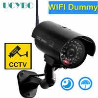 Dummy kamera cctv video überwachung kameras w/wifi antenne infared IR LED blinkende batterie powered sicherheit gefälschte kamera