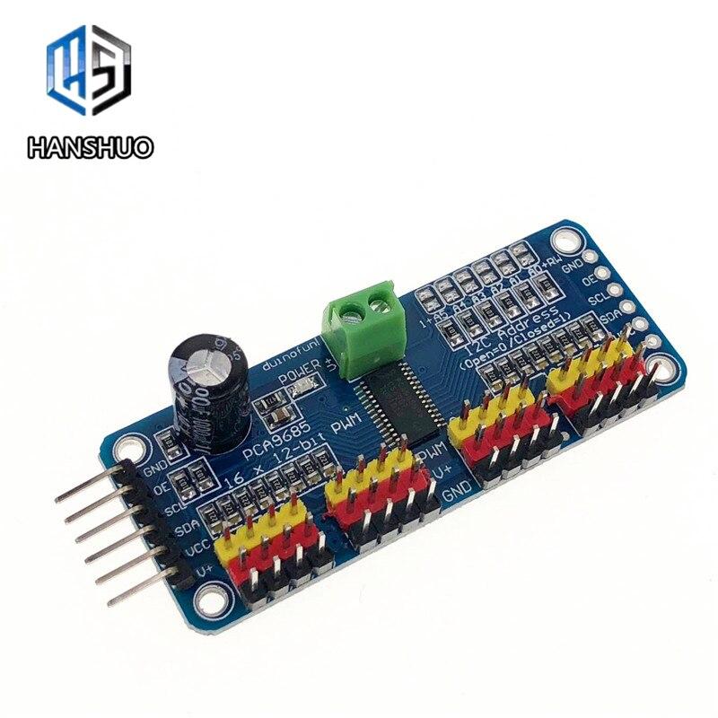 16 Channel 12-bit PWM/Servo Driver-I2C Interface PCA9685 Module For Arduino Or Raspberry Pi Shield Module Servo Shield