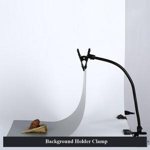 Черный держатель для фона с зажимом, подставка-светильник, гибкий кронштейн, отражатель, зажим для фона, бумажный зажим, аксессуары для фото...
