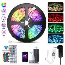 Smart Wifi LED Strip for Alexa Luces LED Light RGB 5050 12V Waterproof LED Lights 24 Key APP Control Fita LED Strips Backlight