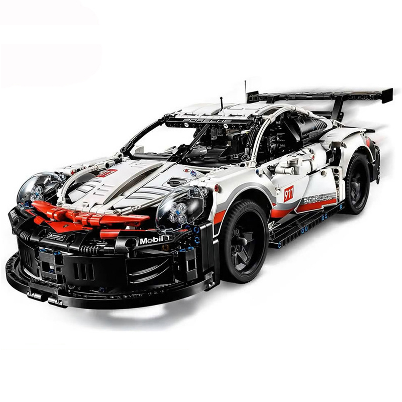 Technic Series Formula Racing Car 911 RSR Model 20097 90066 Compatible 42096 1580pcs Supercar Building Blocks Toy