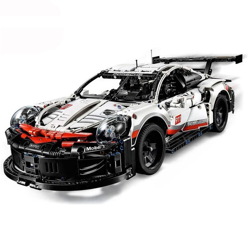 Technic Series Formula Racing Car 911 RSR Model 20097 90066 Compatible 42096 1580pcs Supercar Building Blocks Toy