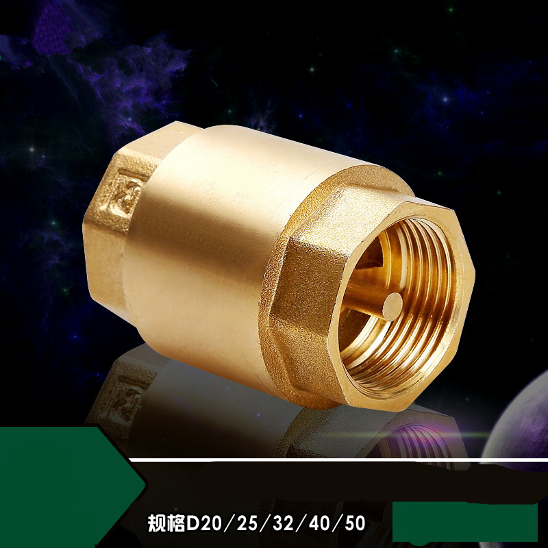 1pc DN15/DN20/DN25 NPT Brass Female Thread In-Line Spring Check Valve 25mm Diameter 200WOG For Water Control