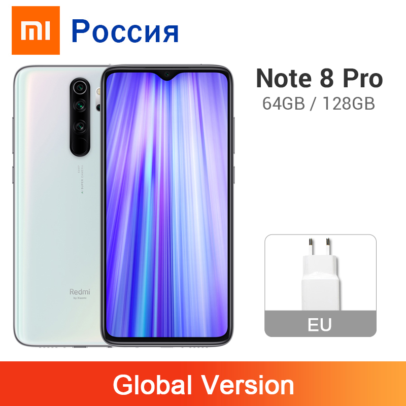 Global Version Xiaomi Redmi Note 8 Pro 6GB 64GB / 128GB 64MP 4 Cameras 4500mAh MTK Helio G90T NFC Mobile Phone Liquid Cooling(China)