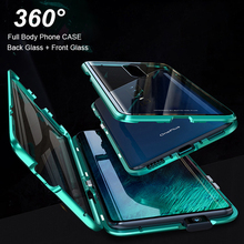 Luxury 2nd Magnetic Absorption Metal Flip Cases for