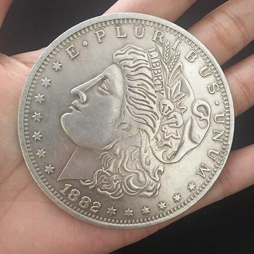 Jumbo Morgan Dollar (7cm) Gimmick Coin Magic Tricks Illusions Close Up Magia Magic Accessories Jumping Coin Props Fun