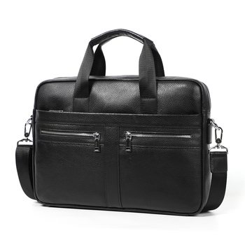 Nesitu A4 Black 100% Genuine Leather Office 14'' Laptop Men Briefcase Business Handbag Shoulder Messenger Bag Portfolio M6001