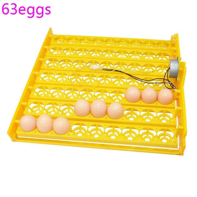 63 inkubator do jaj obróć tacę kury kaczki inny inkubator do drobiu automatycznie obracaj jaja sprzęt do inkubacji drobiu 2 zestaw