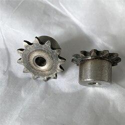 Rueda dentada de cadena, rueda dentada de 9/10/11/12/13, 04C 25B 25H, corona pequeña de 6mm de diámetro, 2 uds.