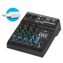 وحدة مزج صوت بلوتوث احترافية مكونة من 4 قنوات للكاريوكي