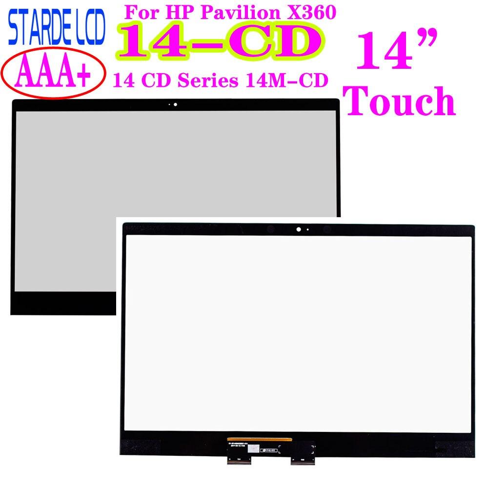14 ''сенсорная панель (диджитайзер) для ноутбука HP Pavilion X360 14 или никель-кадмиевых 14 компакт-дисков серии 14M-CD ноутбуки сенсорный Экран Replacemnt Па...