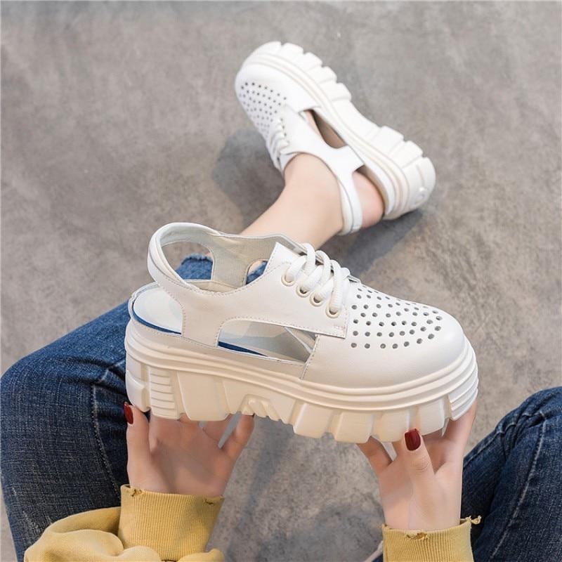 cunhas brancas sapatos rendas até senhoras sandálias