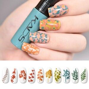 Image 5 - Esmalte de uñas estampado Set uñas plantillas barniz 10g 41 colores de esmalte de uñas Set 2 usos Nail art pen sellos uñas placas