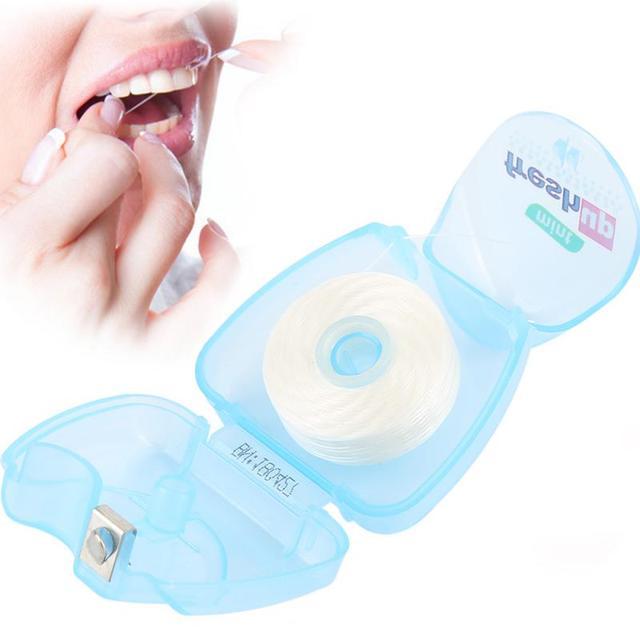 Фото 50 м портативный зубной флоссер гигиена полости рта воск для