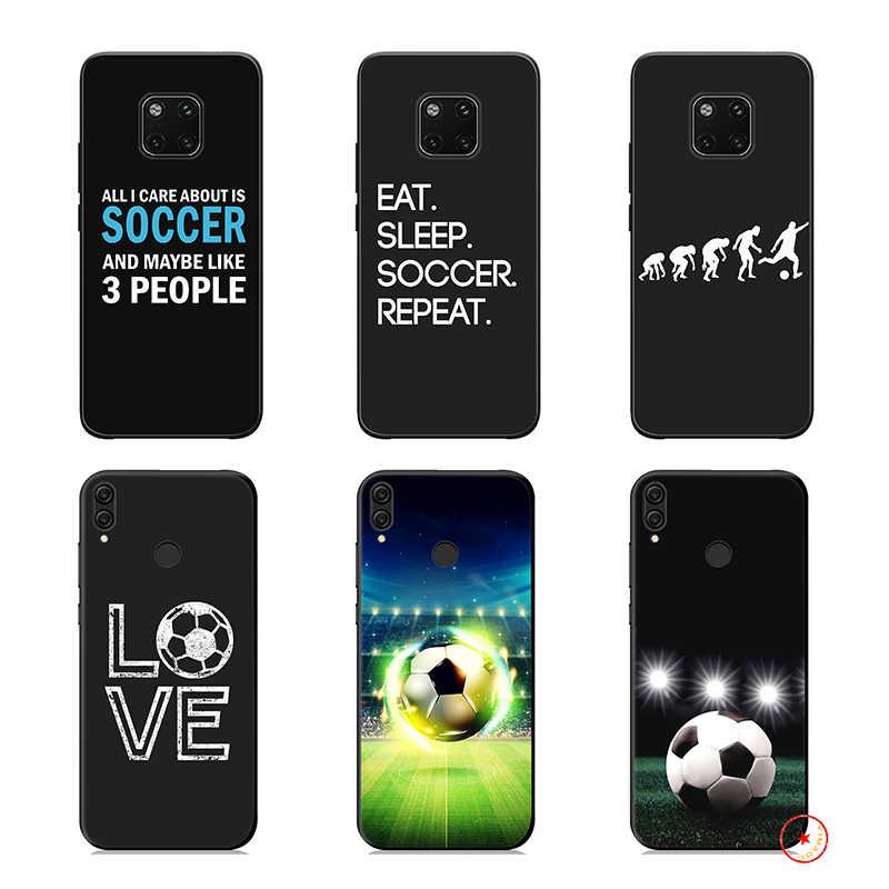 サッカーサッカーソフトシリコンケース Huawei 社 P30 P20 P10 Lite Pro の P スマートプラス 2018 2019 P30 Pro の P スマート Z