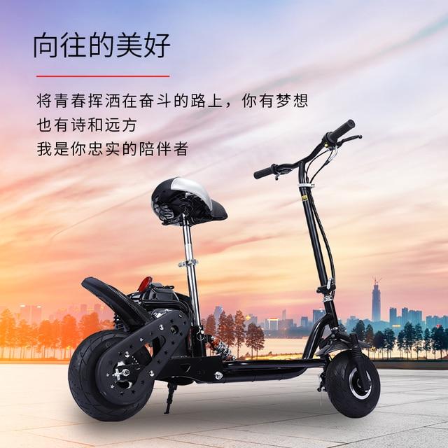 Foldable Gas Gasoline Scooters 2-Stroke 4-Stroke Fuel Power Mini Pedal Scooter Motor Dirt Bike Mini motorcycle 3