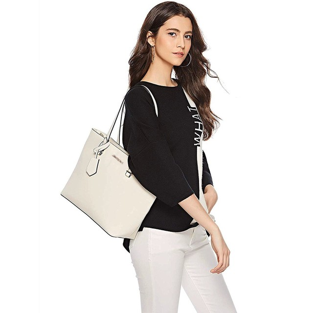 4Pcs Travel Pu Leather white Handbags Hasp  Solid Color Shoulder Messenger Bag Wallet Pouch Bags For women 2020  4
