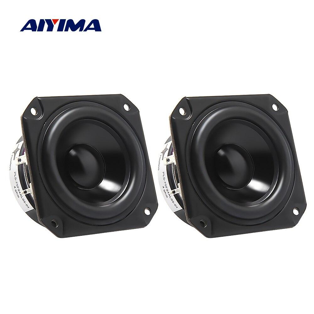 Aiyima 2 pçs 3 Polegada alto-falante gama completa driver 4 ohm 40 w estante alto-falante altifalante de cinema em casa