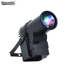 RGBW мини DMX512 сценический светильник Светодиодный точечный светильник для DJ вечерние KTV зеркальный шариковый Точечный светильник s