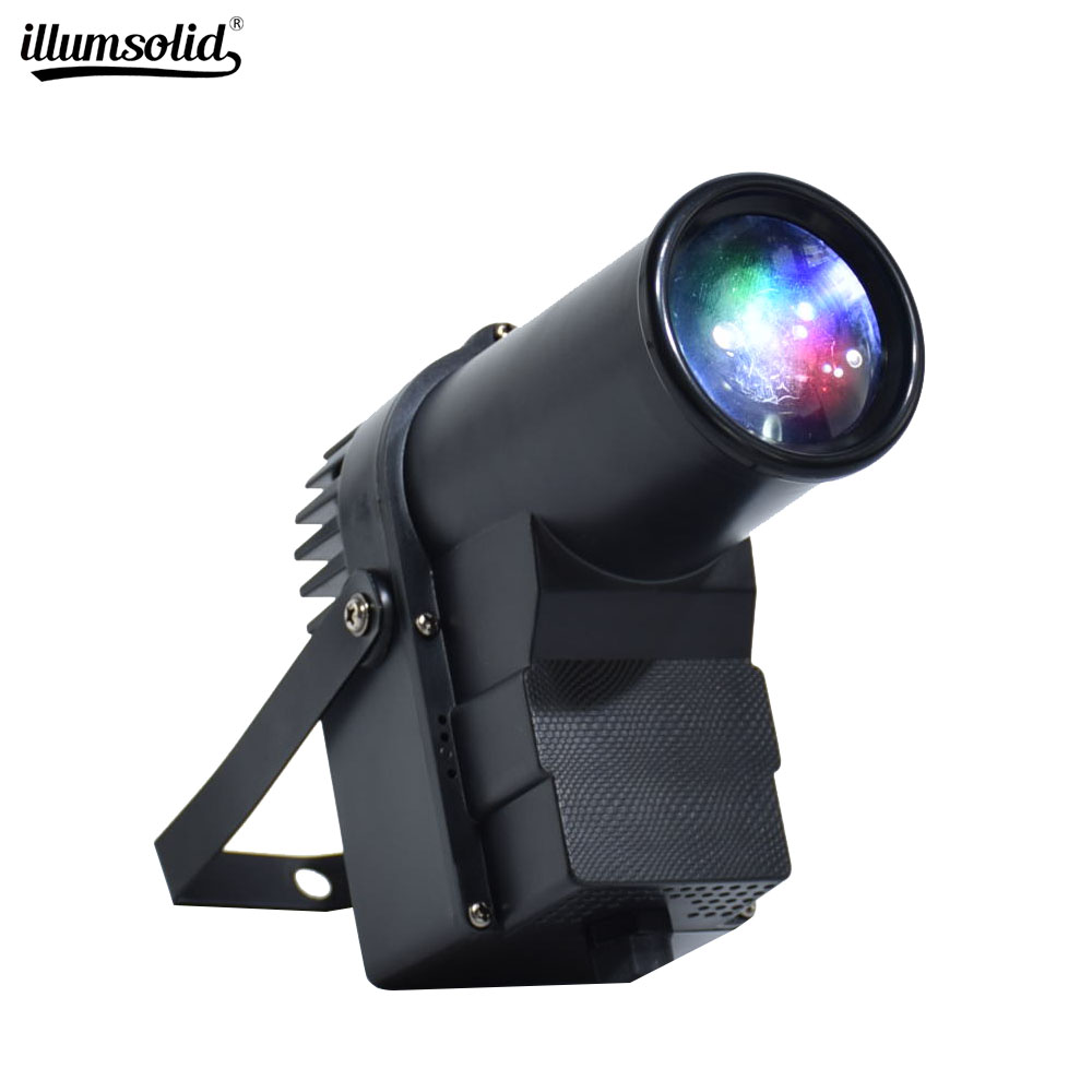 RGBW Mini DMX512 Stage Light Disco Beam Led Pinspot Light For DJ Party KTV Mirror Ball Pin Spot Lights Spotlights