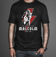 Malcolm Young ACDC Tribute T-Shirt Free Shipping Men T Shirt Summer Short Sleeves Cotton Fashion High Quality top tee sbz4239 bob ross official everybody needs a friend t shirt summer short sleeves fashion t shirt free shipping funny 100% cotton