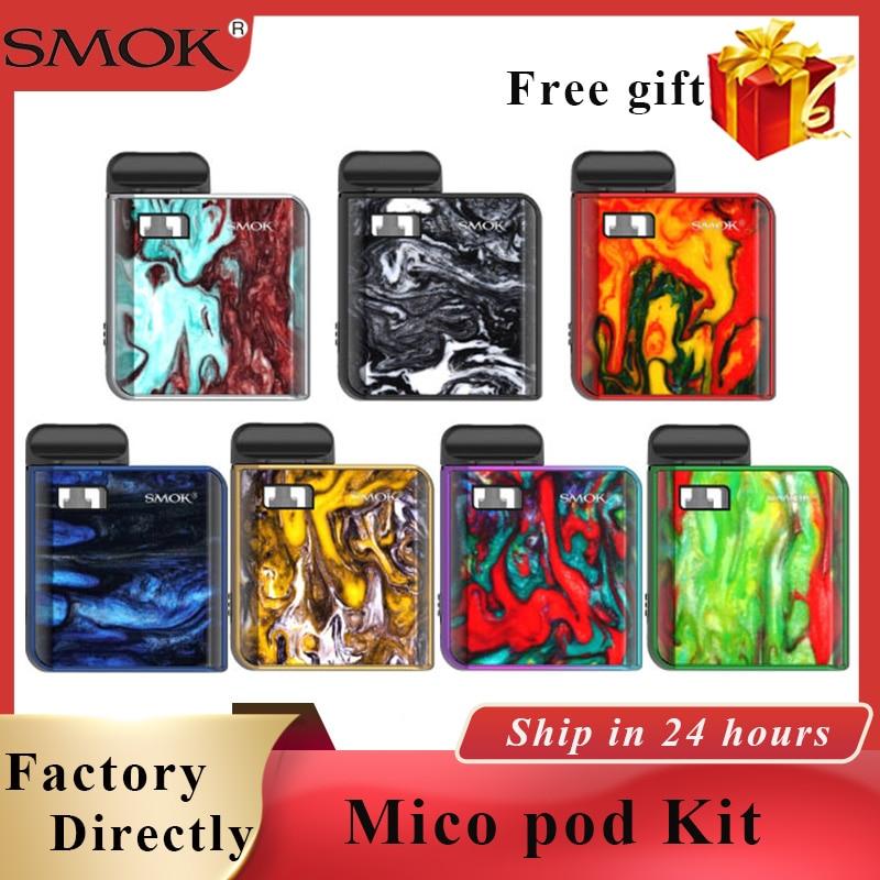 Em estoque Mico SMOK Cigarro Eletrônico kit pod kit 700 mah bateria embutida 1.7ml e cigarro vape sistema pod mini kit vape