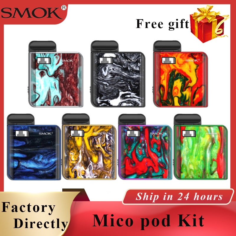 In Stock SMOK Mico Kit Electronic Cigarette Pod Vape Kit 700 Mah Built-in Battery 1.7ml E Cigarette Pod System Mini Vape Kit