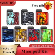 In stock SMOK Mico kit Electronic Cigarette pod vape kit 700 mah built-in battery 1.7ml e cigarette pod system mini vape kit vandy vape pulse bf kit for e cigarette