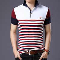 Casual 23 Stile di Disegno di Marca 95% di Estate del Cotone della CAMICIA di POLO Maniche Corte Degli Uomini di Modo Più Il Formato M-5XL 6XL Magliette e camicette Magliette vestiti