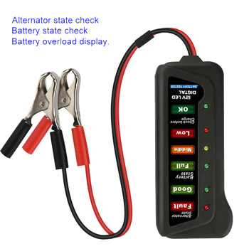Hot Sale High Quality LED 12V Car Battery Load Tester Alternator Battery Analyzer Auto Diagnostic Tool image