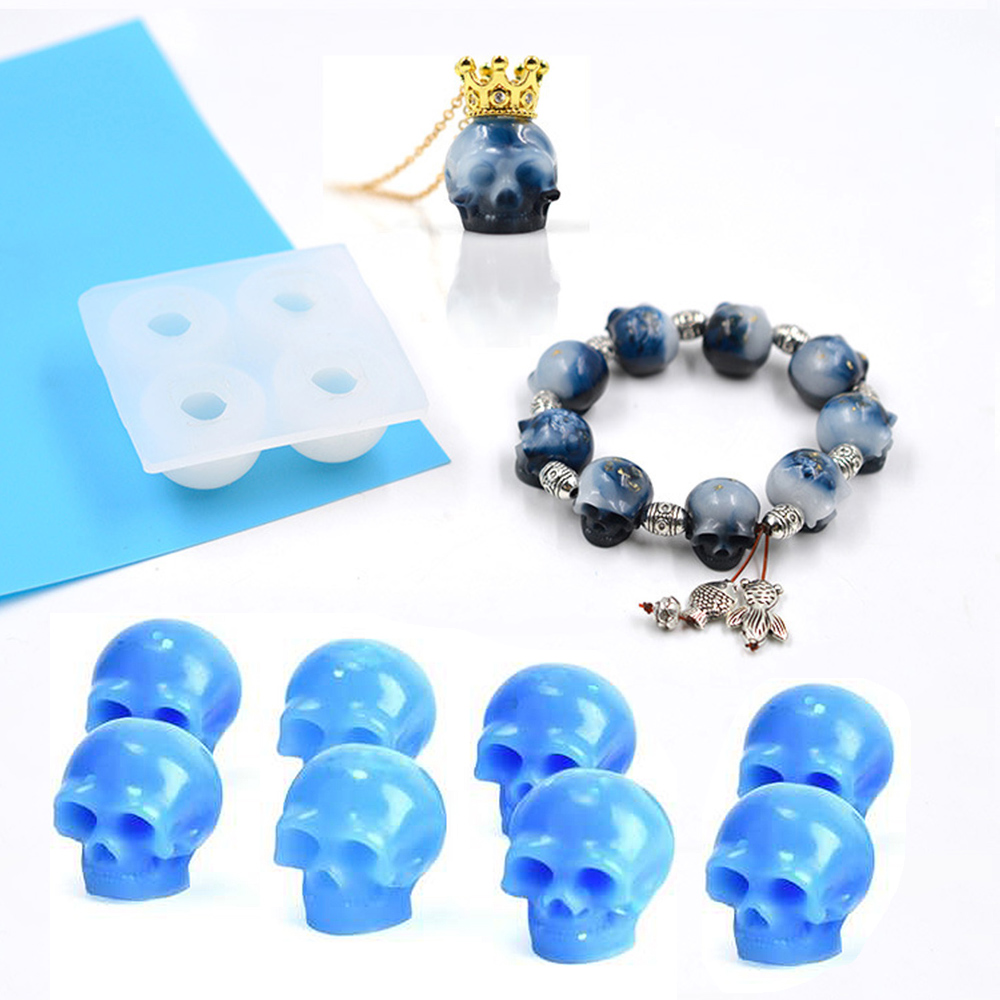 Bracelet And Skull Silicone Mold Beads Uv Resin Diy Clay Epoxy Resin Jewelry Pendant Mold Decoration