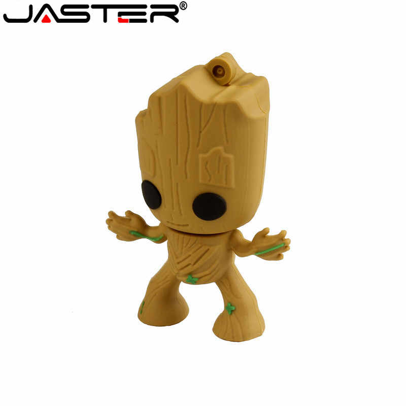 Criativo Groot Guardians Of The Galaxy Moda Dos Desenhos Animados Usb Flash Drives Pen Drive gb GB 16 8 4GB 64GB de Memória Pendrive Vara 32gb