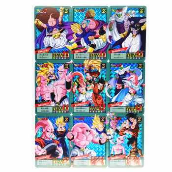 9pcs/set Majin Buu Dragon Ball Z Heroes Battle Card Ultra Instinct Game Collection Cards