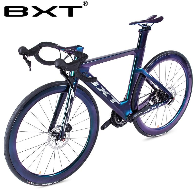 New Road Bike 700C Road Bike Frame Disc Brake 2x11 Speed T800 Carbon Road Bike Frame Carbon Racing Bicycle Complete Road Bike