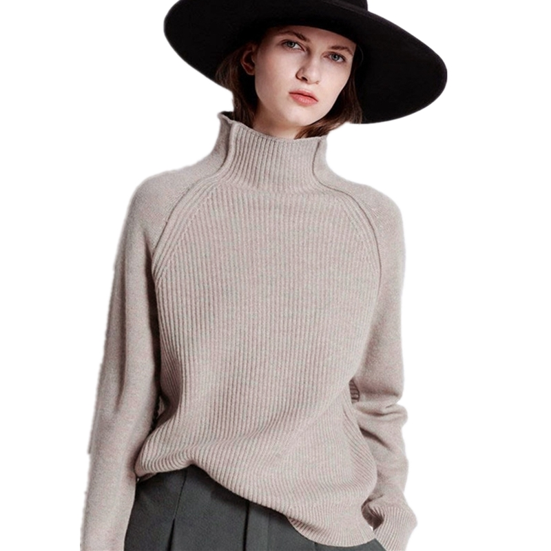 2019 Fall New Women Turtleneck Sweater Pullover  Knitted Slim Sweaters Tops Winter Casual Sweater Jumper Top