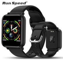 Akıllı saat IP68 su geçirmez Smartwatch erkekler spor nabız monitörü kadınlar spor izci izle VS Pulseira B57 için Android/IOS
