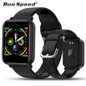 Image 1 - חכם שעון IP68 עמיד למים Smartwatch גברים ספורט קצב לב צג נשים כושר גשש שעון VS Pulseira B57 עבור אנדרואיד/ IOS