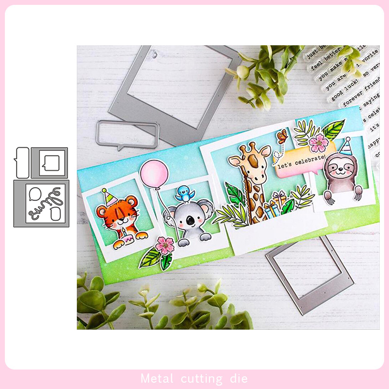 Photo Stack  Frame Metal Cutting Dies For DIY Scrapbooking Photo Album Decorative Embossing Paper Card Crafts Die Cut 2020