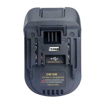 Battery Converter Adapter For Milwaukee Dewalt 18V 20V lithium battery to Makita Power Tool Accessories With 5V USB Charger power tools battery adapter for milwaukee m18 18v li ion battery convert to makita 18v 20v bl series lithium batteries adapter