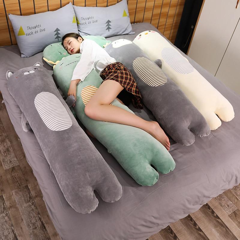 striped animals long toy squishy soft standing pig unicorn dinosaur sleeping body pillow washable liner boys girls 70 100cm