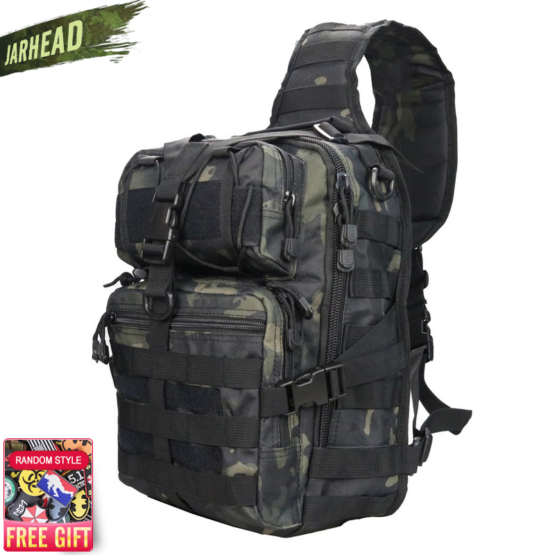 Military Tactical Assault Pack Sling Backpack 900D Army Molle Waterproof EDC Rucksack Bag for Outdoor Hiking Camping Hunting 20L