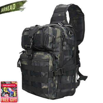Military Tactical Assault Pack Sling Backpack 900D Army Molle Waterproof EDC Rucksack Bag for Outdoor Hiking Camping Hunting 20L 900d waterproof military tactical assault molle pack backpack army rucksack outdoor sport bags hiking camping hunting backpack