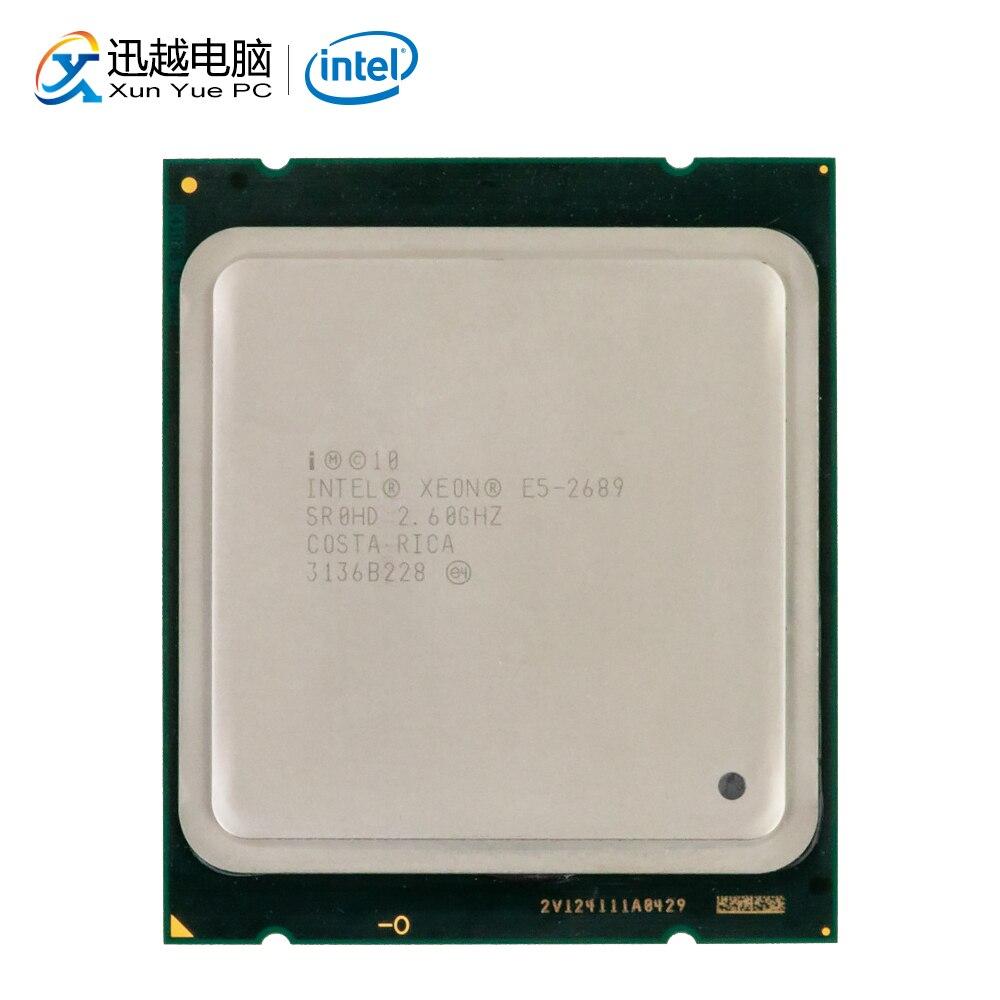Процессор Intel Xeon для настольных ПК, 2689 восемь ядер, 2,6 ГГц, 20 МБ кэш L3, LGA 2011, б/у сервер
